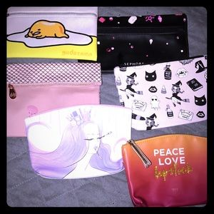 Lot of 6 makeup Ipsy bags
